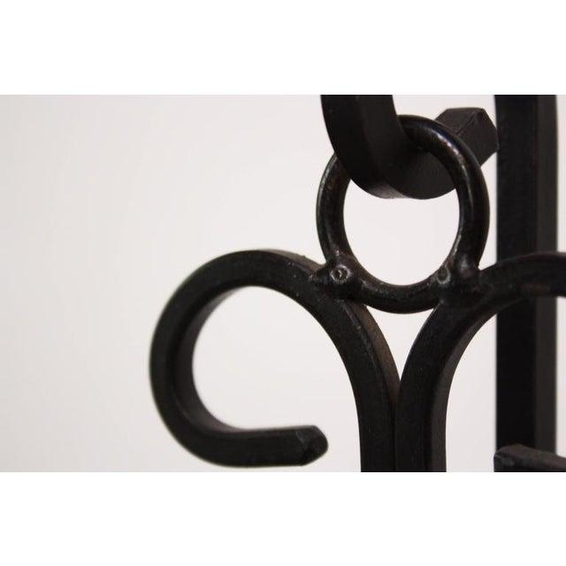 Frederick Weinberg Style Iron Tripod Valet - Image 8 of 9
