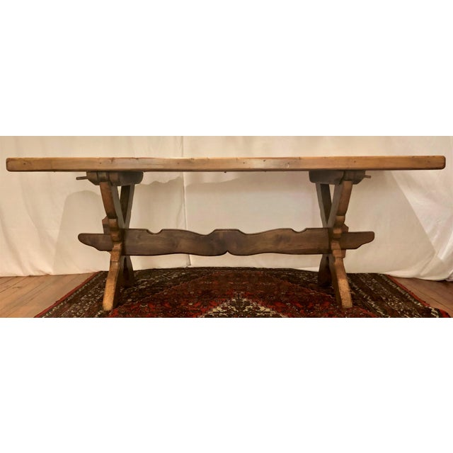 Antique French Provincial Farm Table From Pyrenees Woodlands, Circa 1910-1920.