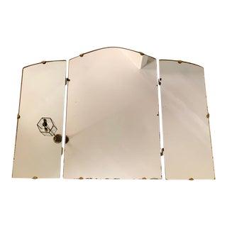 Antique Tri-Fold Mirror For Sale