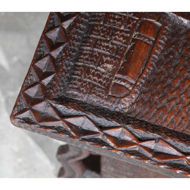 Brown African Coffee Table For Sale - Image 8 of 8