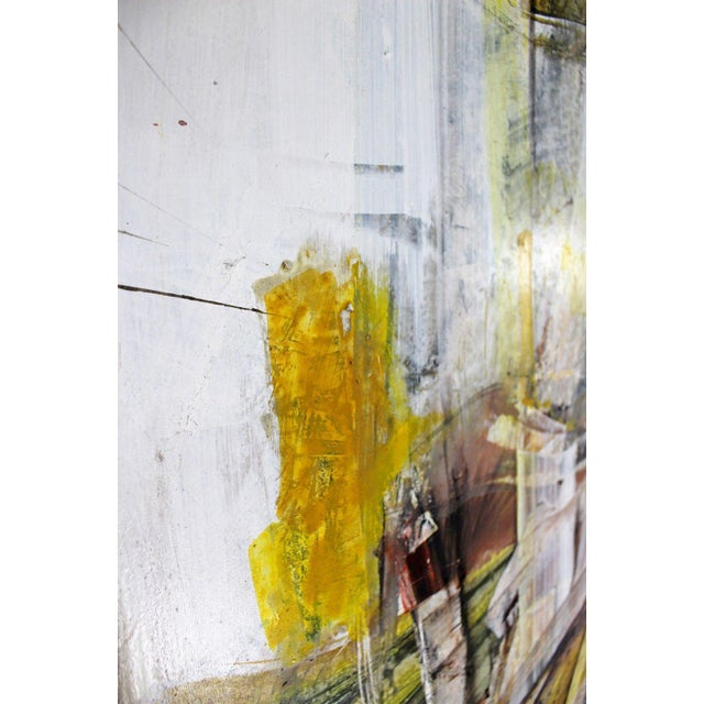 Acrylic Mid Century Modern Framed Mixed Media Acrylic Abstract Painting by Ljubo Biro For Sale - Image 7 of 11