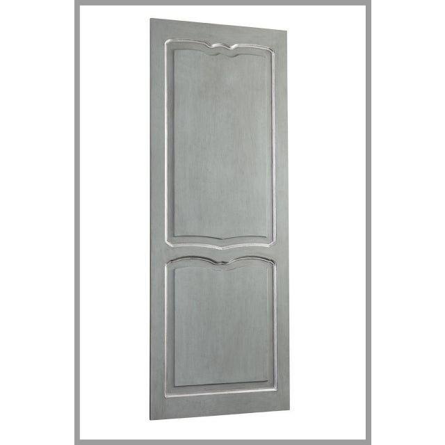 Hand-carved elegant sliding interior barn door. Size is 39 inches wide which will cover an interior door opening of 32...