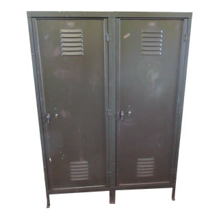 Industrial Age Steel Cabinet For Sale