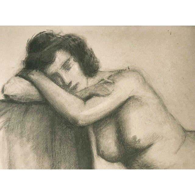 J. Mason Reeves Original Nude Drawing 1962 For Sale - Image 4 of 7