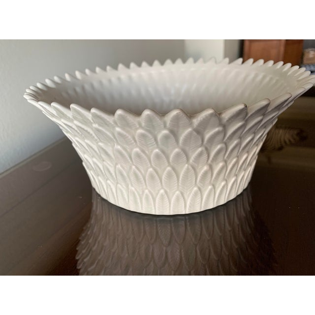 . Fitz and Floyd layered leaf dish. Bisque like glaze made in Japan.