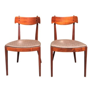 Mid Century Modern Kipp Stewart for Drexel Declaration Dining Chairs - a Pair For Sale