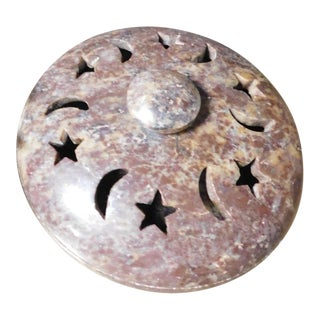 Sun & Moon Soapstone Covered Dish For Sale