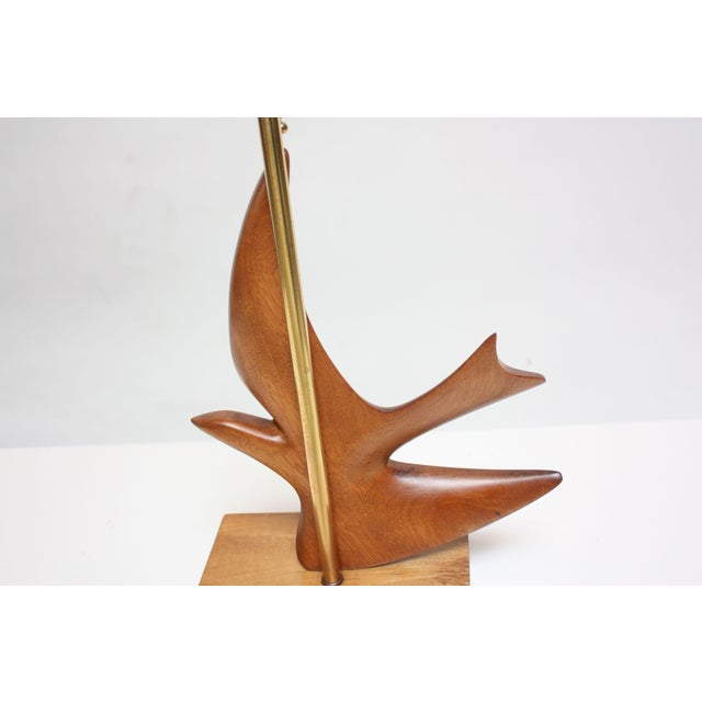 Maple and Mahogany 'Dove' Lamp by Clark Voorhees for Hansen For Sale In New York - Image 6 of 12