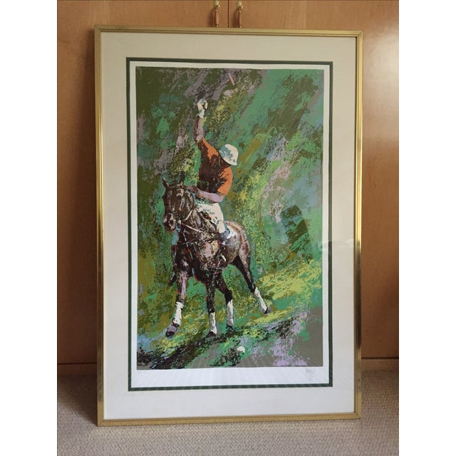 """Mark King Polo - hand signed and framed serigraph and silkscreen on paper. Limited edition 25/50. Custom framed. 50.5""""l x..."""