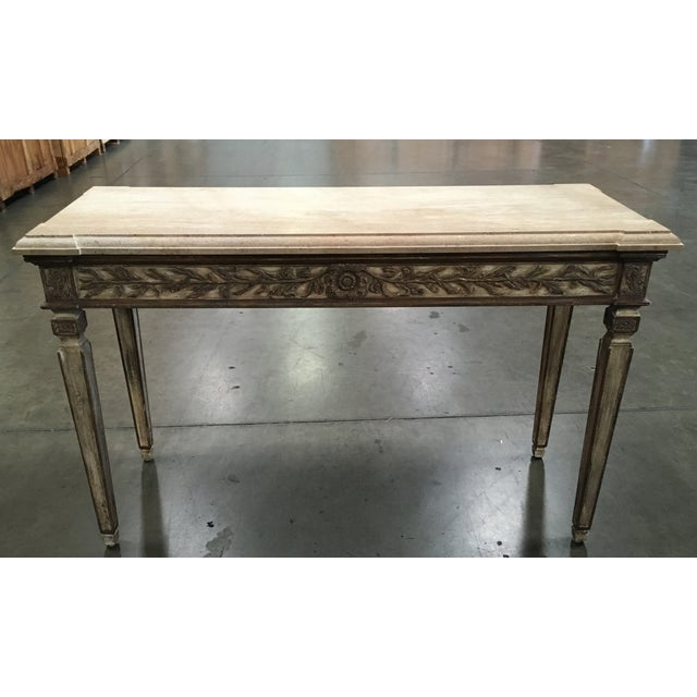 John Nelson Italian Console with Limestone Top - Image 2 of 6