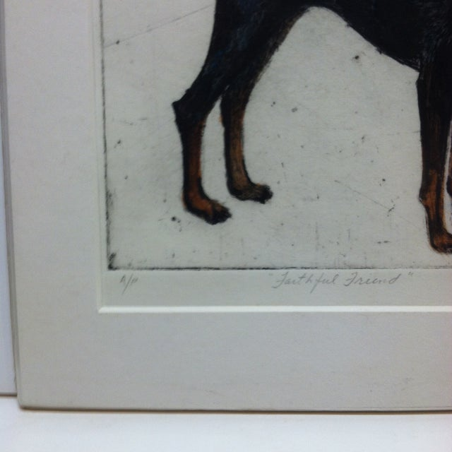 """Realism """"Faithful Friend"""" Signed Artist's Proof Print by Carmen Sherbeck For Sale - Image 3 of 6"""