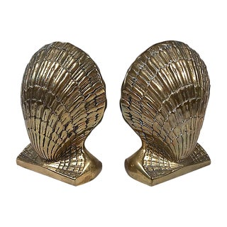 Brass Shell Bookends For Sale