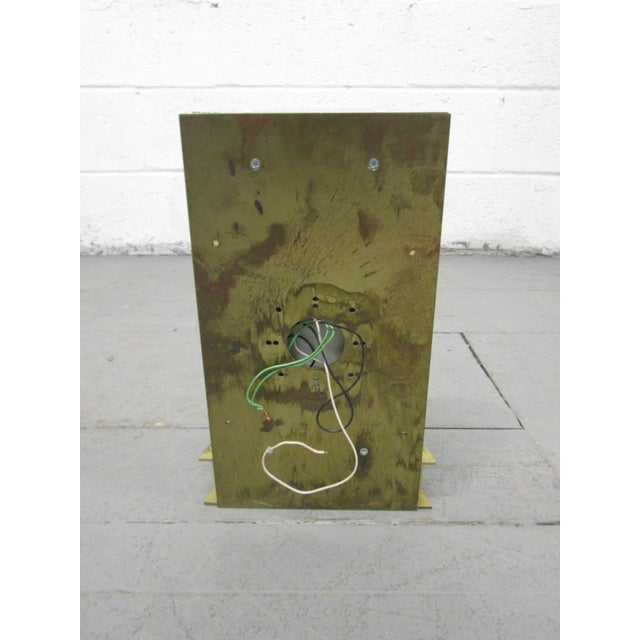 Metal Pair Large Italian Bronze Sconces For Sale - Image 7 of 8