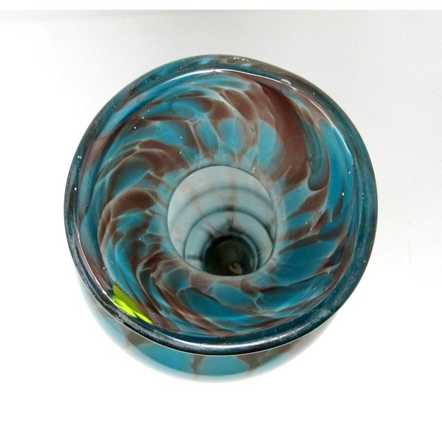 Vintage Hand-Blown Studio Art Glass Vase For Sale In Los Angeles - Image 6 of 9