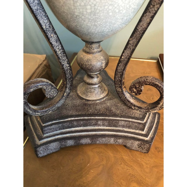 Traditional Table Lamp & Lamp Shade For Sale - Image 3 of 9