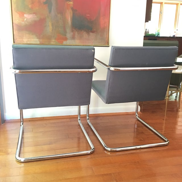 1990s Mies Van Der Rohe for Thonet Brno Chairs - a Pair For Sale - Image 5 of 13