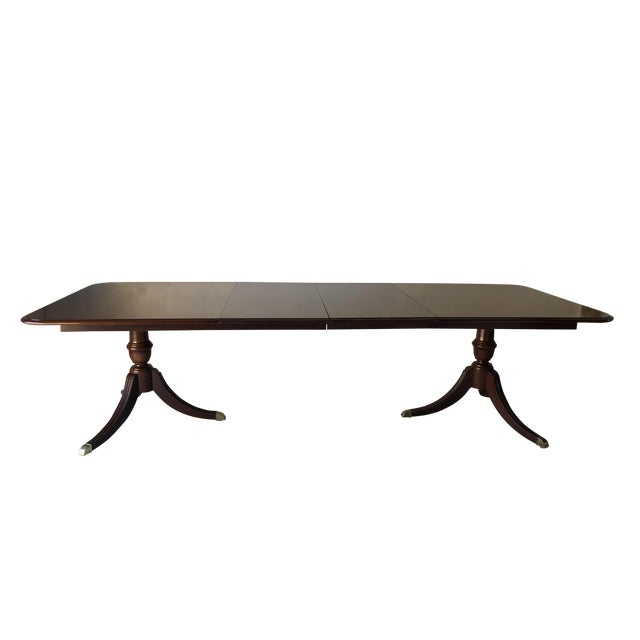 Thomasville Dining Table Fruitwood 112 X 45 Excellent For Sale
