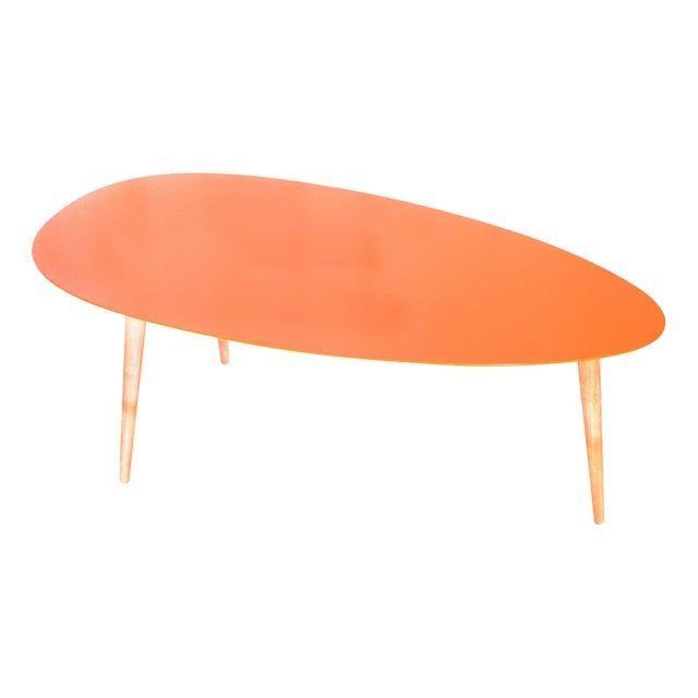 Large Egg Table - Orange - Image 1 of 3