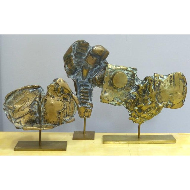 1980s Bronze Sculptures by Cacipore Torres, Brazil 1935 - Set of 3 For Sale - Image 5 of 11
