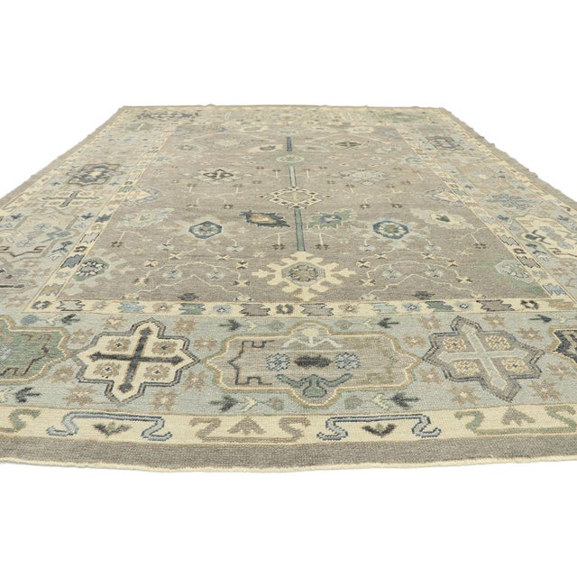 Contemporary Contemporary Turkish Oushak Rug With Modern Style - 08'11 X 12'07 For Sale - Image 3 of 9