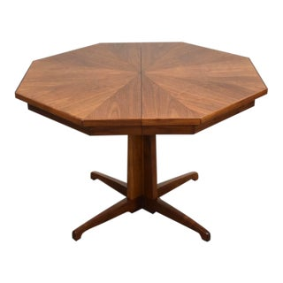 Octagonal Walnut Dining Table For Sale