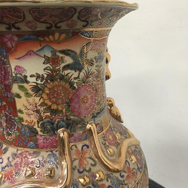 Asian Golden Floral Vase - Image 5 of 7