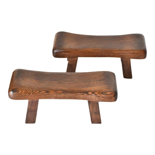 Chinese Rosewood Mini Stools, Hand Rests - a Pair - Image 1 of 13