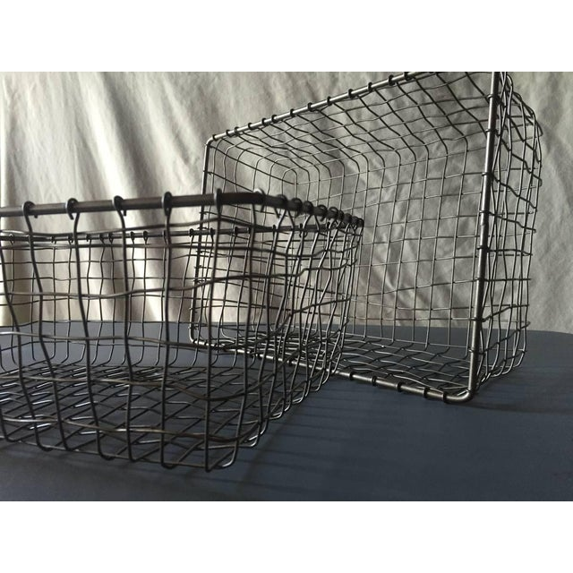 French Wire Vintage Style Market Baskets- Set of 3 - Image 8 of 11