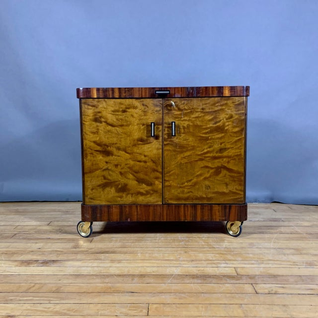 1930s Rootwood & Rosewood Bar Cabinet With Intarsia For Sale - Image 11 of 11