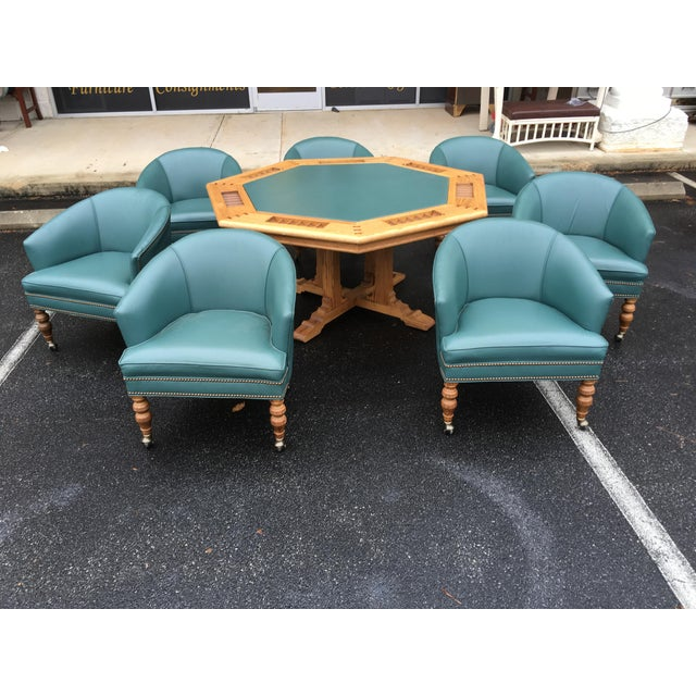 1980s Traditional Ethan Allen Poker Table Set - 8 Pieces For Sale - Image 12 of 13