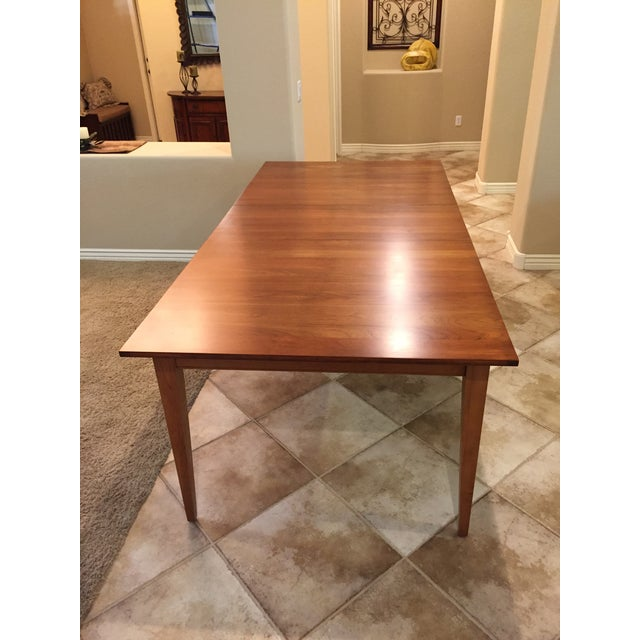 Mission Ethan Allen New Impressions Dining Table With 2 Leaves For Sale - Image 3 of 11
