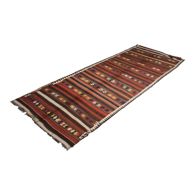 "Hand Knotted Antique Maimana Kilim by Aara Rugs - 16'0"" x 6'0"" - Image 1 of 5"