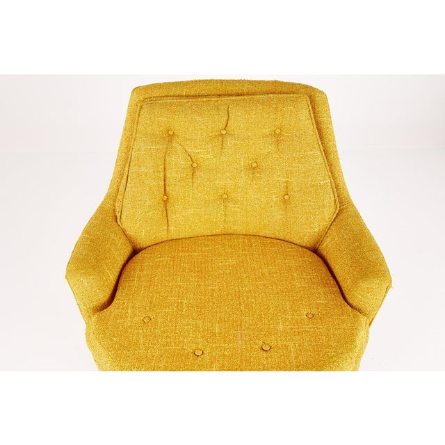 Yellow Adrian Pearsall Style Mid Century Swivel Lounge Chair For Sale - Image 8 of 10