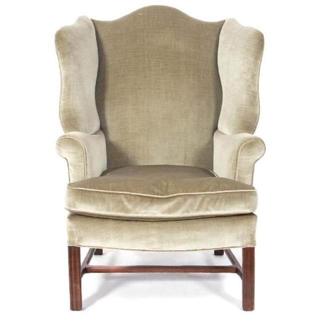 Mahogany George III Style Mahogany Wing Chair For Sale - Image 7 of 7
