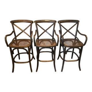 Modern Restoration Hardware Counter Stools- Set of 3 For Sale