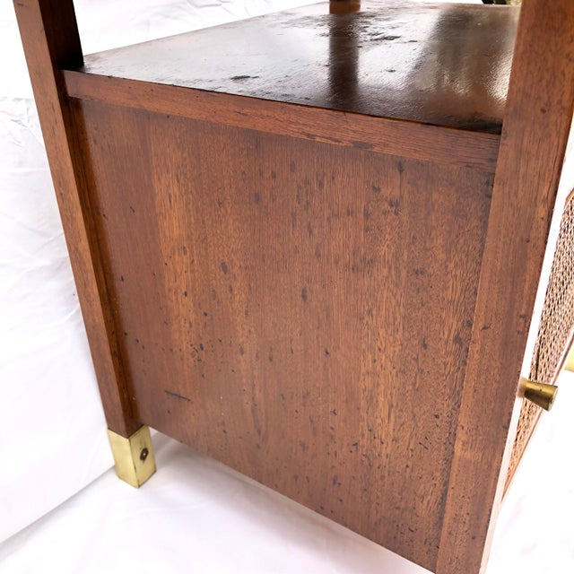 Mid-Century Modern Paul McCobb Manner Walnut Side Table For Sale - Image 10 of 11
