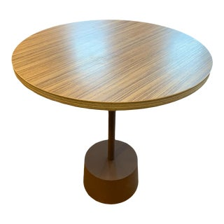 Contemporary Modern Round Accent Table For Sale