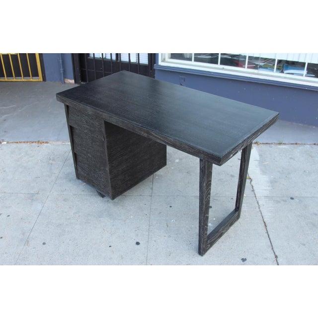 Morris of California Architectural Oak Desk - Image 7 of 11