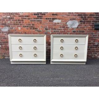 Pair of t.h Robsjohn-Gibbings Lacquered Dressers for John Stuart Preview