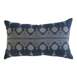 Peter Dunham Navy Blue Lumbar Pillow Cover For Sale