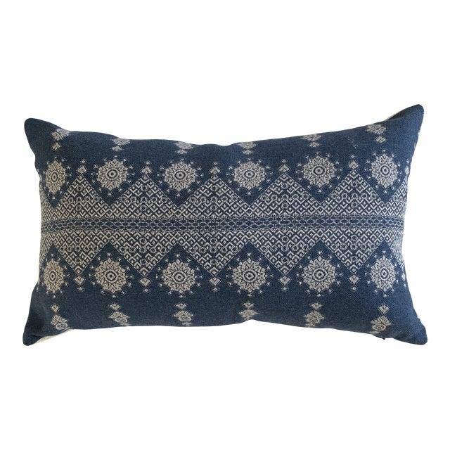 Peter Dunham Navy Blue Lumbar Pillow Cover For Sale