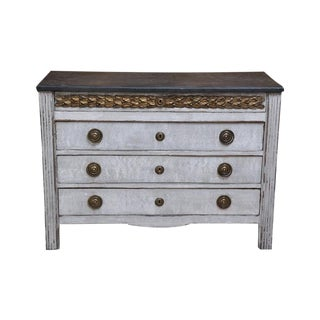 19th Century Gray Painted Chest of Drawers