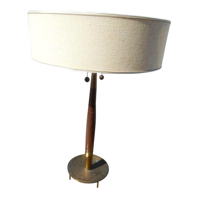 Rare 1950's Gerald Thurston For Stiffel Mid-Century Modern Atomic Age Table Lamp For Sale