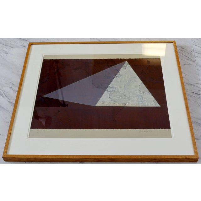 """For your consideration is a gorgeous, framed lithograph, entitled """"The Four Corners Project- World View,"""" signed by David..."""