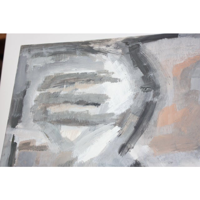 Abstract Oil and Gouache on Board by Elizabeth Nachman Erlanger For Sale - Image 4 of 11