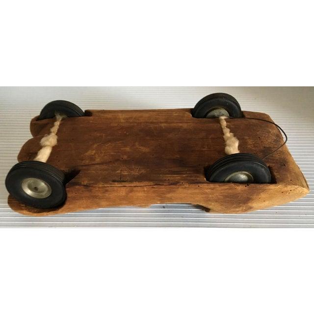 Antique Wooden Hand Carved Model Car - Image 10 of 11