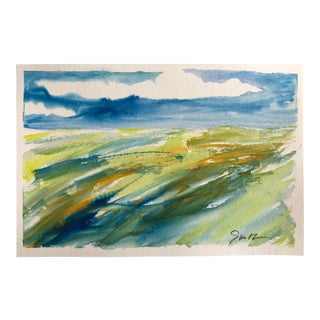 "Contemporary Nancy Smith Original Watercolor Landscape ""Seal the Day"" For Sale"
