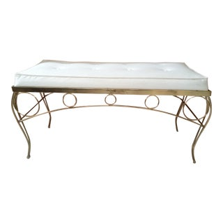 Mid Century Hollywood Regency Bench by George Koch and Sons For Sale
