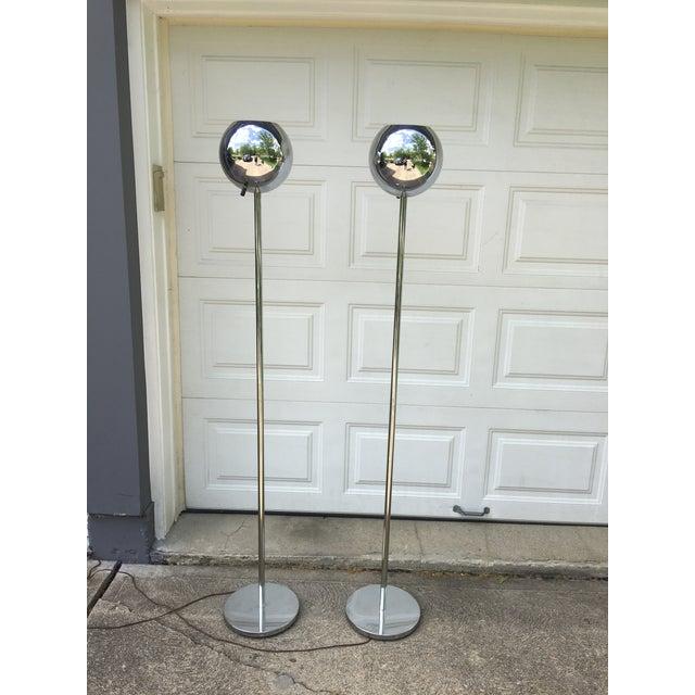 Mid Century Orb Lamp: Mid-Century Lightolier Chrome Orb Floor Lamp