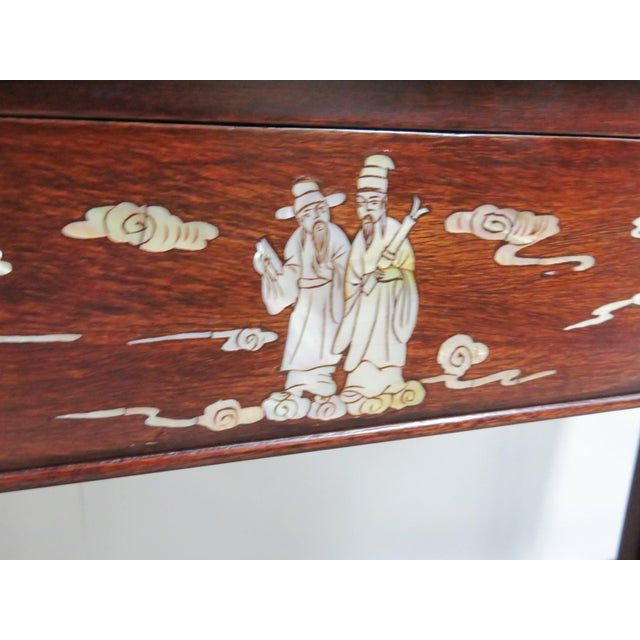 Chinese Rosewood Inlaid Altar Style Console Table For Sale In Philadelphia - Image 6 of 9